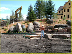 Picture of Building Commercial Retaining Wall in Montana